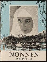3a0061 NUN'S STORY Danish program '59 different images of religious missionary Audrey Hepburn!