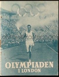 3a0063 OLYMPIC GAMES OF 1948 Danish program '48 XIV Olympiad: The Glory of Sport, held in London!