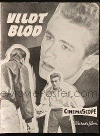 3a0074 REBEL WITHOUT A CAUSE Danish program '58 Nicholas Ray, different images of James Dean!