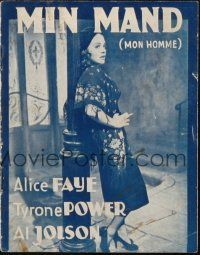 3a0076 ROSE OF WASHINGTON SQUARE Danish program '39 Alice Faye, Tyrone Power, different images!