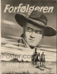 3a0077 SEARCHERS Danish program '56 different images of John Wayne, John Ford western classic!