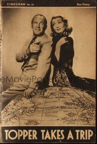 3a0004 TOPPER TAKES A TRIP English program '47 different image of Constance Bennett & Roland Young!