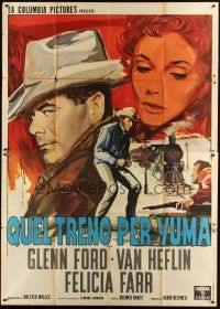3c005 3:10 TO YUMA Italian 2p '57 Glenn Ford, from Elmore Leonard's story, different art!