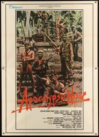 3c011 APOCALYPSE NOW Italian 2p '79 Francis Ford Coppola, Vietnam, cool different cast portrait!