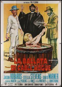 3c014 BALLAD OF CABLE HOGUE Italian 2p '70 Sam Peckinpah, art of sexy Stella Stevens in wash tub!