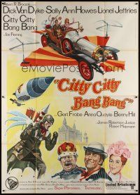 3c028 CHITTY CHITTY BANG BANG Italian 2p '69 Dick Van Dyke, Sally Ann Howes, art of flying car!