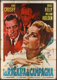 3c031 COUNTRY GIRL Italian 2p R60s different art of Grace Kelly, Bing Crosby & William Holden!