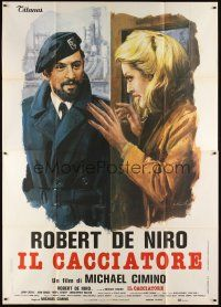 3c034 DEER HUNTER Italian 2p '79 different art of Robert De Niro & Meryl Streep by Ciriello!