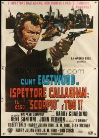 3c039 DIRTY HARRY Italian 2p R70s Franco art of Clint Eastwood pointing gun, Don Siegel classic!