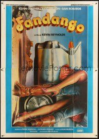 3c046 FANDANGO Italian 2p '85 cool different sexy art of legs & car by Enzo Sciotti!