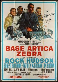 3c063 ICE STATION ZEBRA Italian 2p '69 Rock Hudson, Jim Brown, Ernest Borgnine, Cinerama!