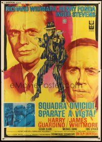 3c076 MADIGAN Italian 2p '68 Richard Widmark, Henry Fonda, Don Siegel, cool different art!