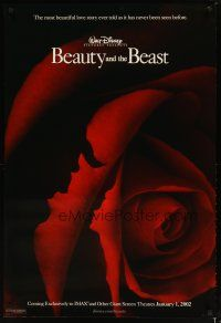 3f087 BEAUTY & THE BEAST advance DS 1sh R02 Walt Disney cartoon classic, art of cast in rose!