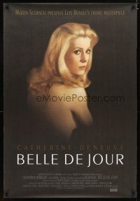 3f093 BELLE DE JOUR DS 1sh R95 Luis Bunuel, close up of sexy Catherine Deneuve!