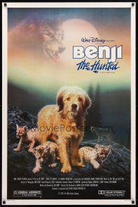 3f094 BENJI THE HUNTED 1sh '87 great close up of Disney Border Terrier & cougar cub!