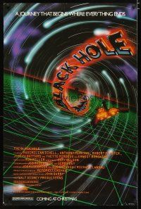 3f100 BLACK HOLE advance 1sh '79 Walt Disney, Maximilian Schell, cool sci-fi artwork!