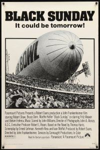 3f102 BLACK SUNDAY 1sh '77 Goodyear Blimp zeppelin disaster at the Super Bowl!
