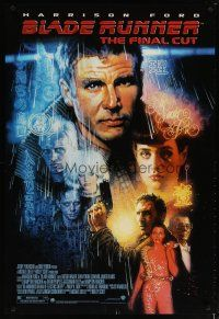 3f103 BLADE RUNNER DS 1sh R07 Ridley Scott sci-fi classic, art of Harrison Ford by Drew Struzan!