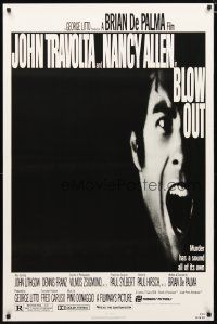 3f109 BLOW OUT 1sh '81 John Travolta & Nancy Allen, directed by Brian De Palma!