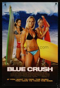 3f110 BLUE CRUSH 1sh '02 John Stockwell, sexy Kate Bosworth in bikini, surfing girls!