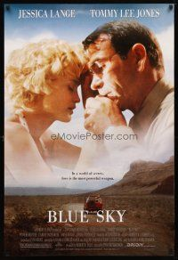 3f111 BLUE SKY 1sh '94 Jessica Lange, Tommy Lee Jones, Powers Boothe, directed by Tony Richardson!