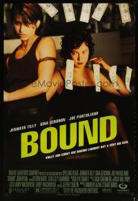 3f116 BOUND 1sh '96 Wachowski Brothers, sexy Jennifer Tilly & Gina Gershon hanging money!
