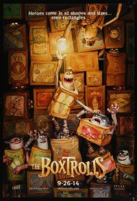 3f119 BOXTROLLS advance DS 1sh '14 heroes come in all shapes and sizes... even rectangles!