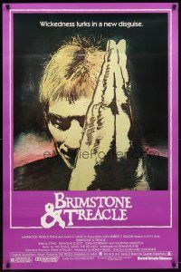 3f125 BRIMSTONE & TREACLE 1sh '82 Richard Loncraine directed thriller, art of Sting!