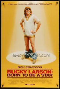 3f126 BUCKY LARSON: BORN TO BE A STAR advance DS 1sh '11 wacky Nick Swardson!