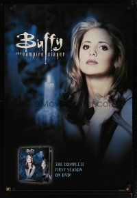 3f127 BUFFY THE VAMPIRE SLAYER video 1sh '01 close-up image of pretty Sarah Michelle Gellar!