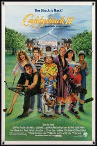 3f133 CADDYSHACK 2 1sh '88 art of golfers Robert Stack, Chevy Chase & Dan Aykroyd by C. Ramsey!