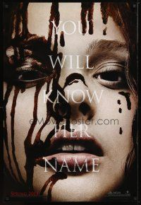 3f135 CARRIE teaser 1sh '13 cool image of bloody Chloe Grace Moretz in the title role!