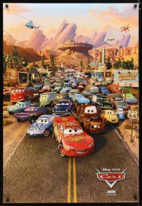 3f136 CARS int'l advance DS 1sh '06 Walt Disney animated automobile racing, cool image of cast!