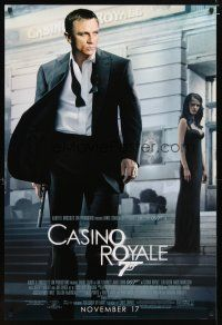 3f138 CASINO ROYALE advance 1sh '06 Daniel Craig as James Bond & sexy Eva Green!