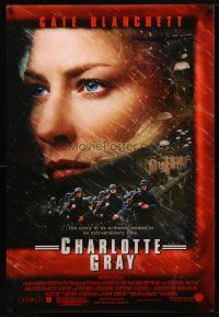 3f146 CHARLOTTE GRAY DS 1sh '01 close-up of Cate Blanchett, Gillian Armstrong directed, Australian!