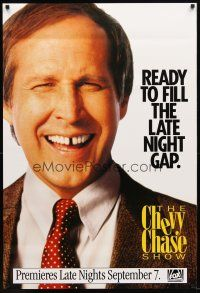 3f148 CHEVY CHASE SHOW TV 1sh '93 wacky image, ready to fill the late night gap!