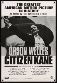 3f153 CITIZEN KANE 1sh R98 some called Orson Welles a hero, others called him a heel!