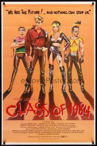 3f155 CLASS OF 1984 int'l 1sh '82 art of bad punk teens, we are the future & nothing can stop us!