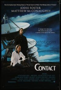 3f163 CONTACT 1sh '97 Jodie Foster, Matthew McConaughey, message from deep space!