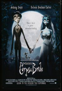 3f166 CORPSE BRIDE advance DS 1sh '05 Tim Burton stop-motion animated horror musical!