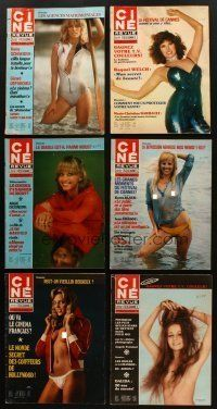 3g003 LOT OF 12 CINE REVUE BELGIAN MAGAZINES '76-79 some with sexy nude cover images!