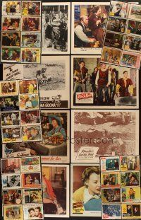 3g010 LOT OF 48 LOBBY CARDS '40s-60s great images from a variety of different movies!