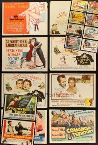3g012 LOT OF 18 TRIMMED TITLE LOBBY CARDS '40s-50s Silk Stockings, Designing Woman & many more!