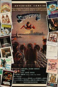 3g017 LOT OF 43 FOLDED ONE-SHEETS '66 - '90 Superman II, Hombre, Revenge of the Nerds & more!