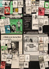 3g031 LOT OF 47 UNCUT PRESSBOOKS '40s-80s a variety of advertising images from many movies!
