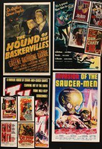 3g041 LOT OF 12 UNFOLDED REPRO POSTERS '90s some of the best images including horror & sci-fi!