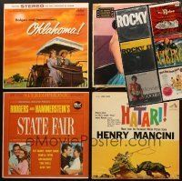 3g046 LOT OF 10 MOVIE SOUNDTRACK ALBUMS '50s-80s Rodgers & Hammerstein, Rocky I, II & III + more!