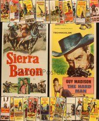 3g048 LOT OF 30 FORMERLY FOLDED COWBOY WESTERN INSERTS '50s great images of tough heroes!