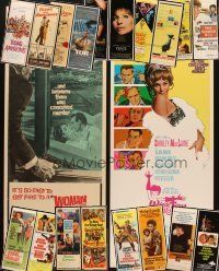 3g049 LOT OF 20 UNFOLDED INSERTS '60s-80s great images from a variety of different movies!