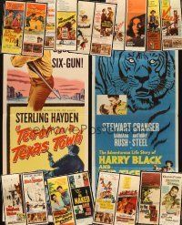 3g050 LOT OF 20 FORMERLY FOLDED INSERTS '50s great images from a variety of movies!